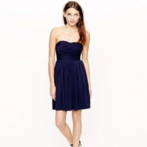 J Crew Factory Navy Strapless Dress 4 (NWT!)